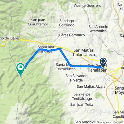 De Central San Rafael 27-21, San Rafael Tlanalapan a Tlahuapan (las golondrinas)