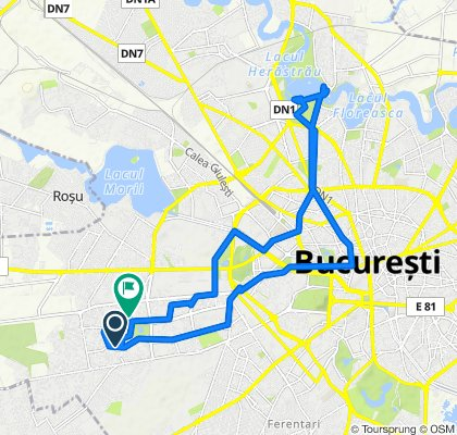 Route from Drumul Taberei 87, Bucharest