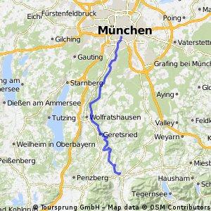 Tölz - München entlang der Isar