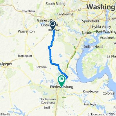 10708 Bristow Rd, Bristow to 710 Princess Anne St, Fredericksburg