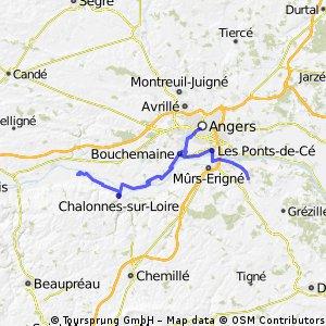 Loire Radweg: Tag 8 La Gaignardiere - Montjean-sur-Loire
