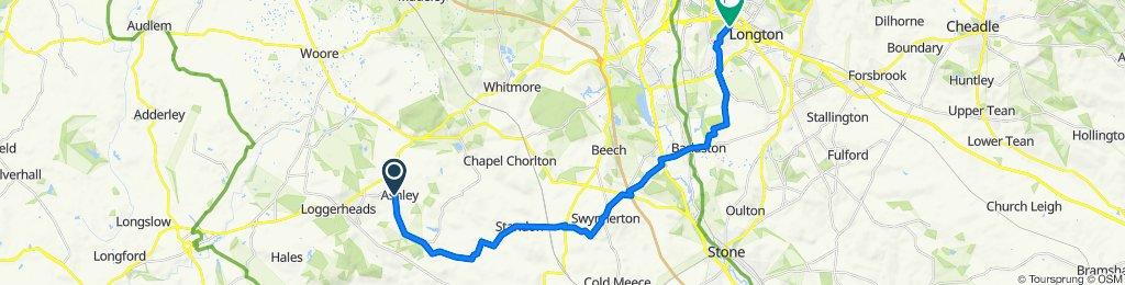 Church Road, Market Drayton to 118 Foley Road, Stoke-on-Trent