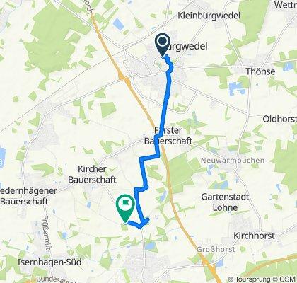 Wilhelm-Busch-Straße 4, Burgwedel nach Heinrich-Könecke-Straße, Isernhagen