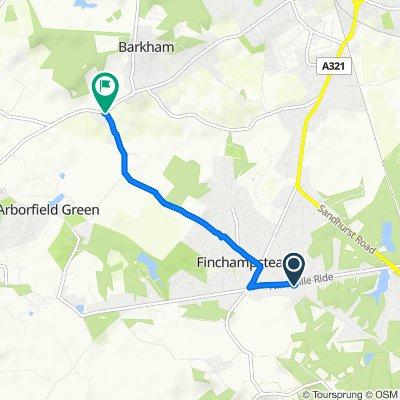 Slow ride in Wokingham
