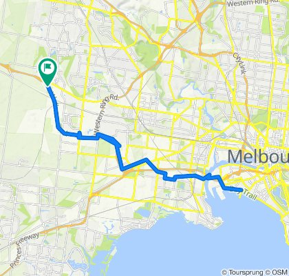 CAROLINE SPRINGS TO ST  KILDA BEACH VIA BIKE TRAILS