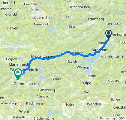 Supersonic route in Gummersbach