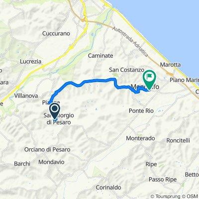 Da Via San Giorgio Castello 10, San Giorgio di Pesaro a Viale Dell' Artigianato 18, Mondolfo