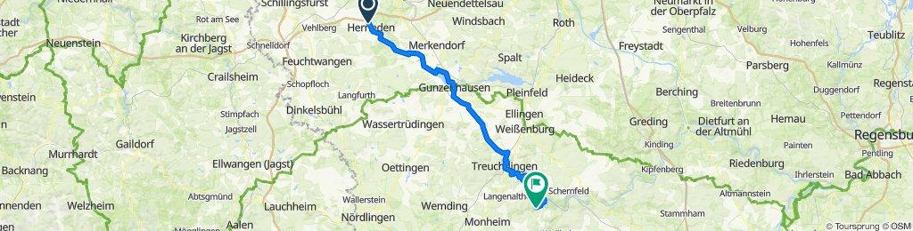 2. Tag Altmühltal-Radweg