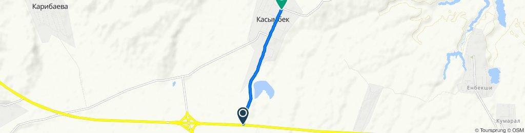 От Улица Жибек Жолы до Улица Жибек Жолы, Касымбек