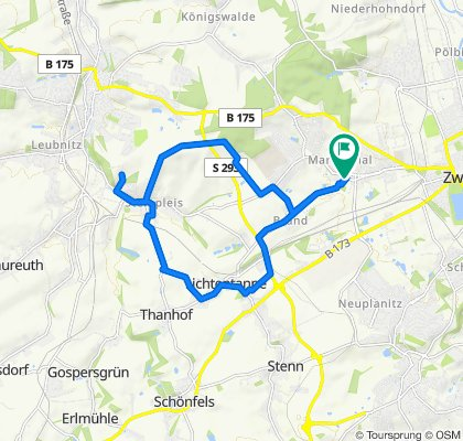 Langsame Fahrt in Zwickau