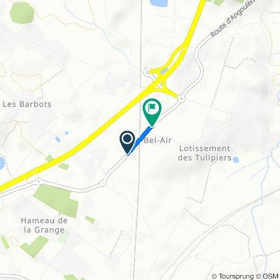 Itinéraire sportif en Roullet-Saint-Estèphe