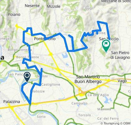 Da Via Bernini Buri, Verona a Lavagno