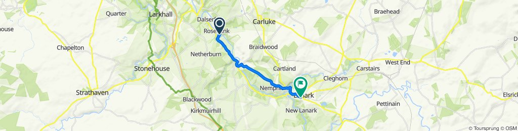 Milton Road, Carluke to 25 Bloomgate, Lanark