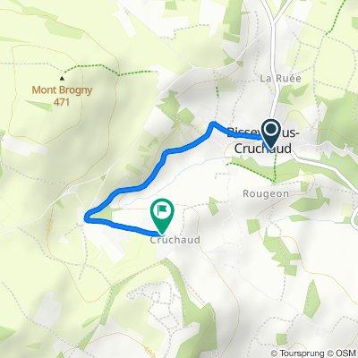 Itinéraire facile en Bissey-sous-Cruchaud
