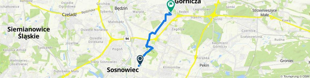 Kombajnistów 44, Sosnowiec do Dojazdowa 33, Dąbrowa Górnicza