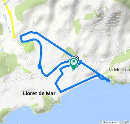 Paseo rápido en Lloret de Mar