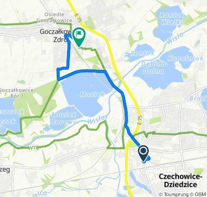 Zrelaksowana trasa w Goczałkowice-Zdrój