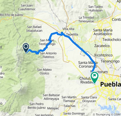 Paseo rápido en Puebla