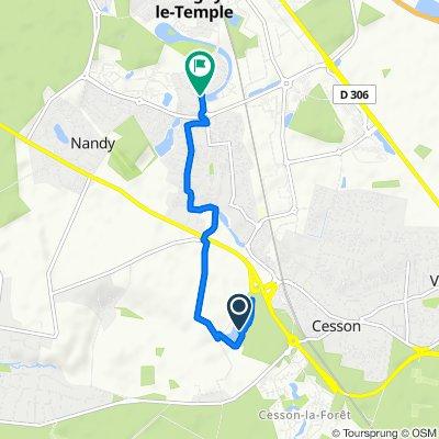 Itinéraire facile en Savigny-le-Temple