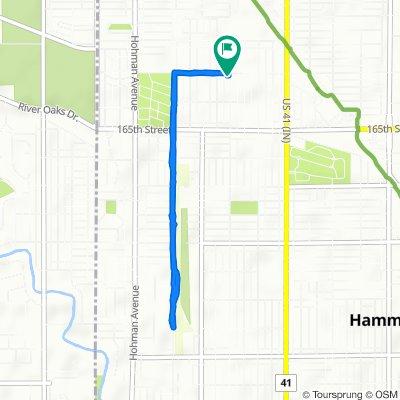 565–599 Kenwood St, Hammond to 6304 Jackson Ave, Hammond