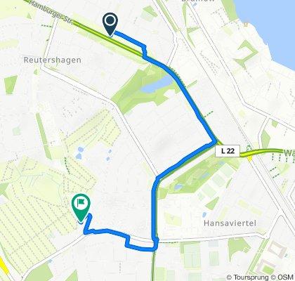 Gemütliche Route in Rostock