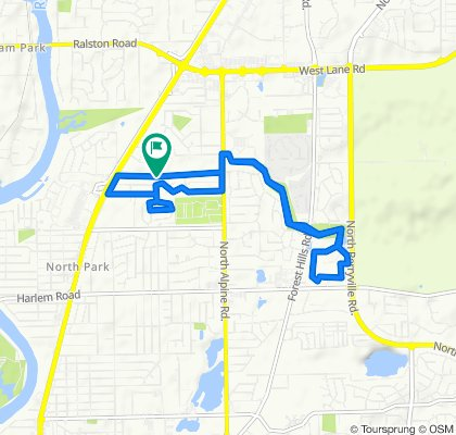 Moderate route in Machesney Park