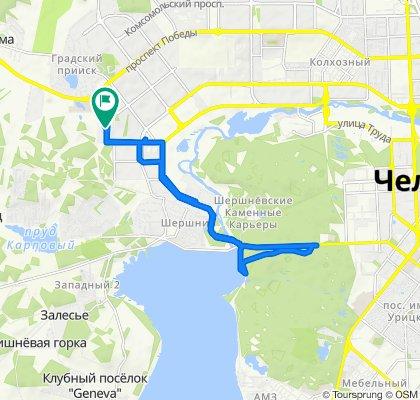 Умеренный маршрут в Челябинск