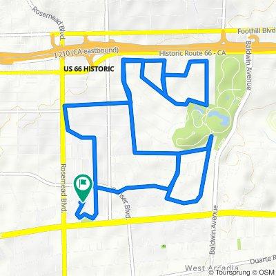 Moderate route in San Gabriel