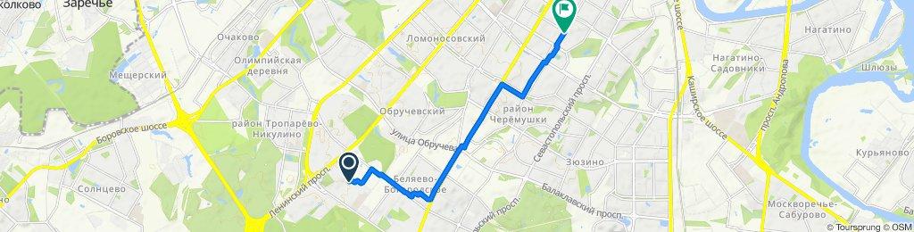От улица Саморы Машела 4 корпус 1, Москва до Новочеремушкинская улица 25, Москва