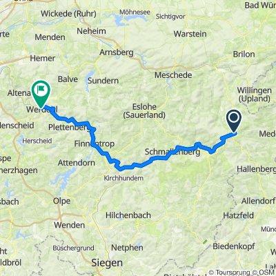 Lenneroute von Winterberg bis Werdohl