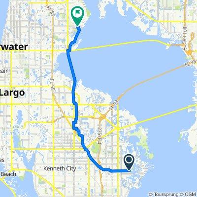 4530 Birch St NE, Saint Petersburg to 750 Main St, Safety Harbor