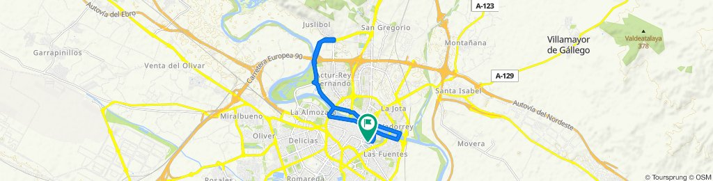 Relaxed route in Zaragoza