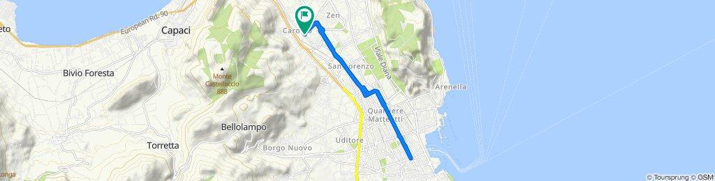 Da Via Tommaso Natale 5, Palermo a Via Tommaso Natale 5, Palermo