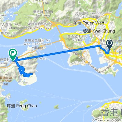 Route from 荔景山路280號, 荔枝角
