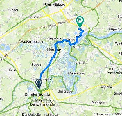 Steenweg van Grembergen 3, Dendermonde naar Kardinaal Cardijnlaan 52, Temse