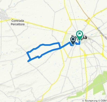 Da Via Camporeale, Foggia a Via Amicangelo Ricci 189, Foggia