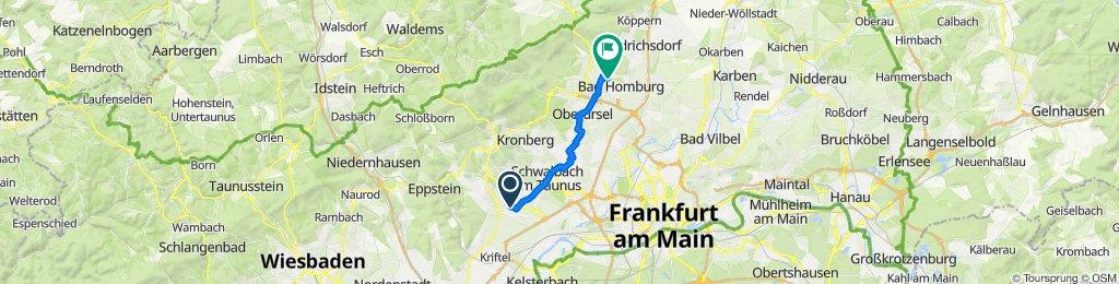 Gemütliche Route in Bad Homburg