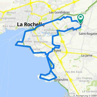 Perigny par la Moulinette, Aytré, la cote, Angoulins les Minimes et le canal de Rompsay