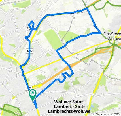 Slow ride in Woluwe-Saint-Lambert