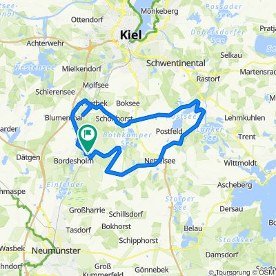 Hochgeschwindigkeitsroute in Bordesholm