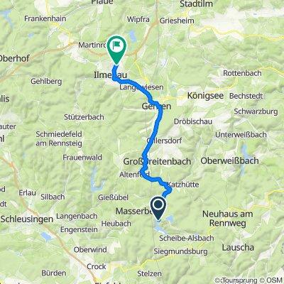 L1112, Goldisthal nach Stadtweg 43, Ilmenau
