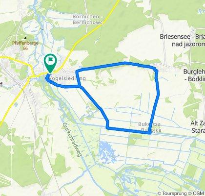 Langsame Fahrt in Lübben (Spreewald)