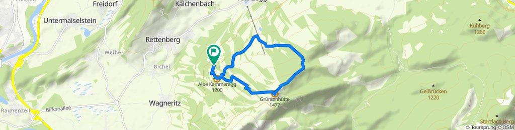 Route nach Kammeregger Weg 16, Rettenberg