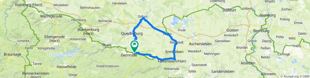 Ditfurt - Hoym - Reinstedt - Ermsleben