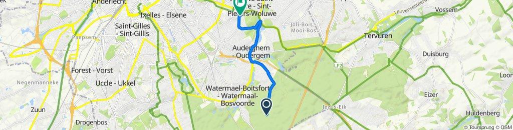 Drève du Comte de Flandre, Watermael-Boitsfort to Avenue Jules César 28, Woluwe-Saint-Pierre