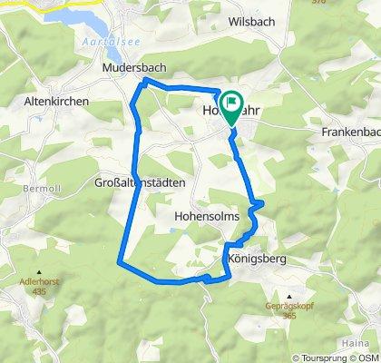 Gerade Fahrt in Hohenahr
