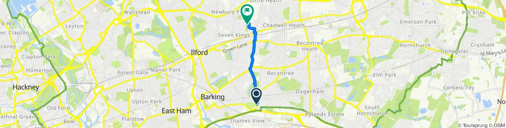 Steady ride in Ilford