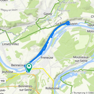 De Rue Carnot 17, Bonnières-sur-Seine à Rue Carnot 17, Bonnières-sur-Seine