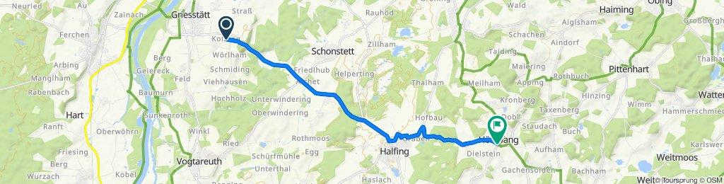Kolbing nach Höslwang