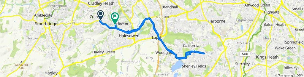 Restful route in Birmingham